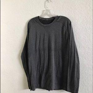 Lululemon Surge Heathered Gray Shirt - Large L